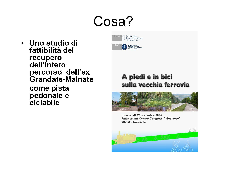 Iubilantes propone il recupero del sedime dela vecchia ferrovia Como-Varese come percorso pedonale e ciclabile