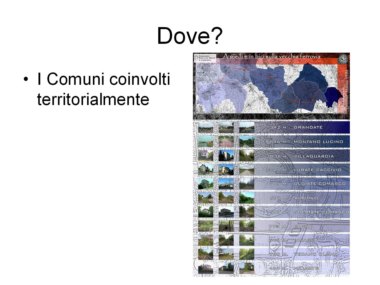 I Comuni territorialmente coivolti nel progetti